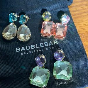 Bundle of 3 pair of earrings
